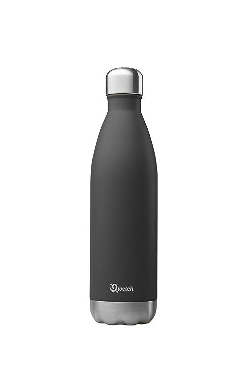 Qwetch QD3036 – Botella isotérmica de acero inoxidable – 750 ml, Negro , 750 ml