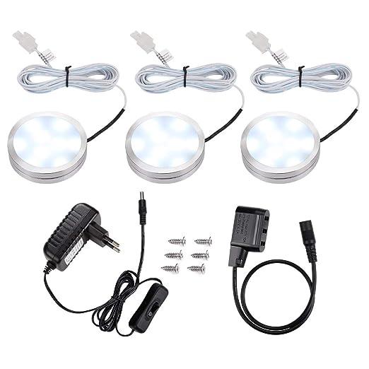 Muebles para en Repisapack 6W Cocina LE 3 Focos Potenteluces Estante LED totalLuz Armario Encimera 510lm Vitrinas de Blanca para SpqVMGUz