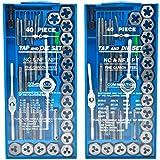 Biltek 80pc Professional SAE & Metric Tap and Die Set T-Handle Wrench Screw Pitch Gauge