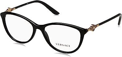 Versace Women's VE3175 Eyeglasses, Black, 54/16/140