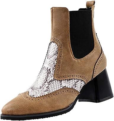 ZARLLE_ Hombre Zapatillas Botas de Mujer,Otoño e Invierno Botas ...