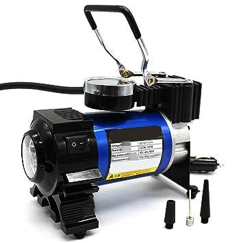 12V DC Compresor De Aire Portátil De La Bomba, 150 PSI Inflador De Neumáticos Digitales Con La Luz, (12V Encendedor De Cigarrillos Socket): Amazon.es: Coche ...