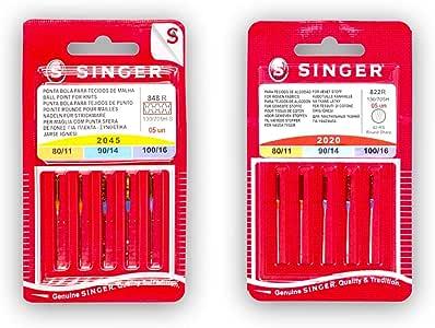Singer Pack de 2 Paquetes de Agujas para Máquina de Coser ...