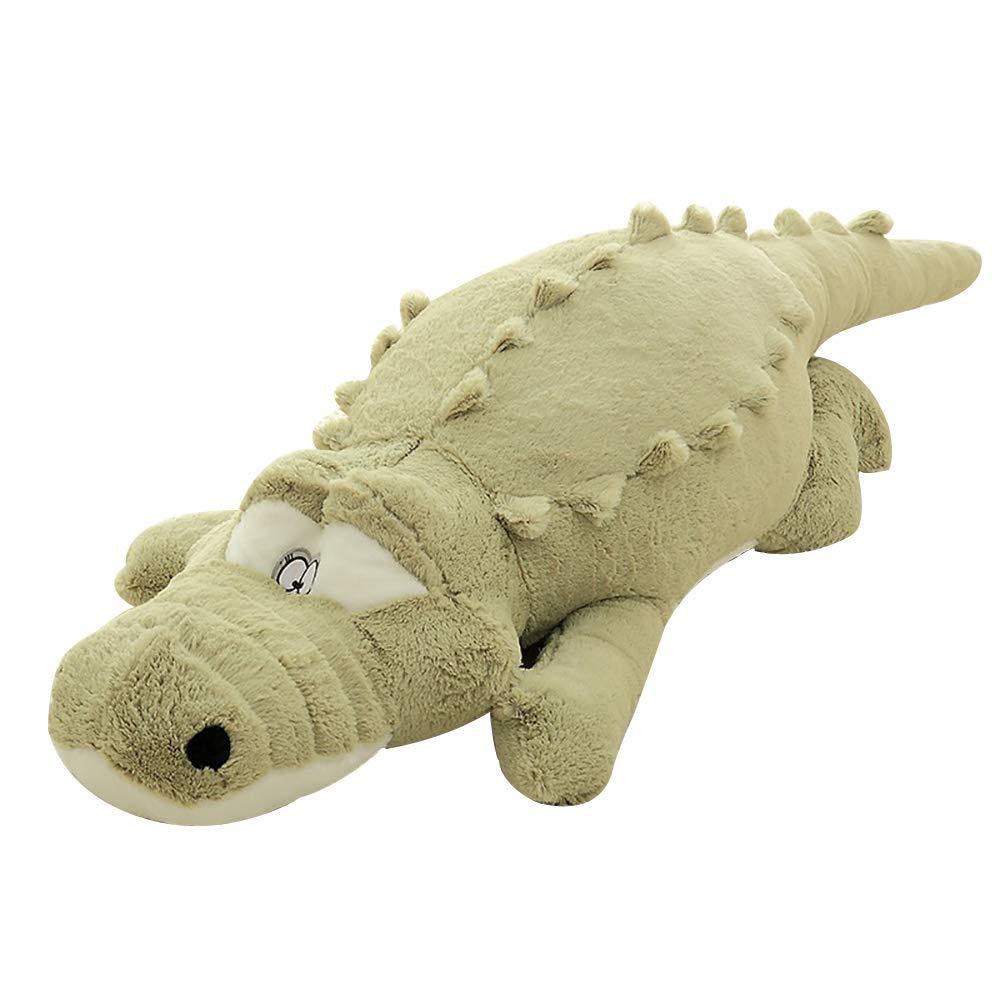 misandrie Lindo Juguete cocodrilo cocodrilo de Peluche de Juguete Suave muñeca de Regalo (Verde)