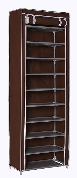 Homebi 10 Tier Shoe Rack 30 Pairs Shoe Tower Closet Shoes Storage Cabinet  Portable Boot