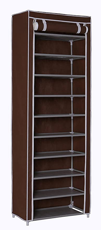 Amazon.com: Homebi 10-Tier Shoe Rack 30 Pairs Shoe Tower Closet ...