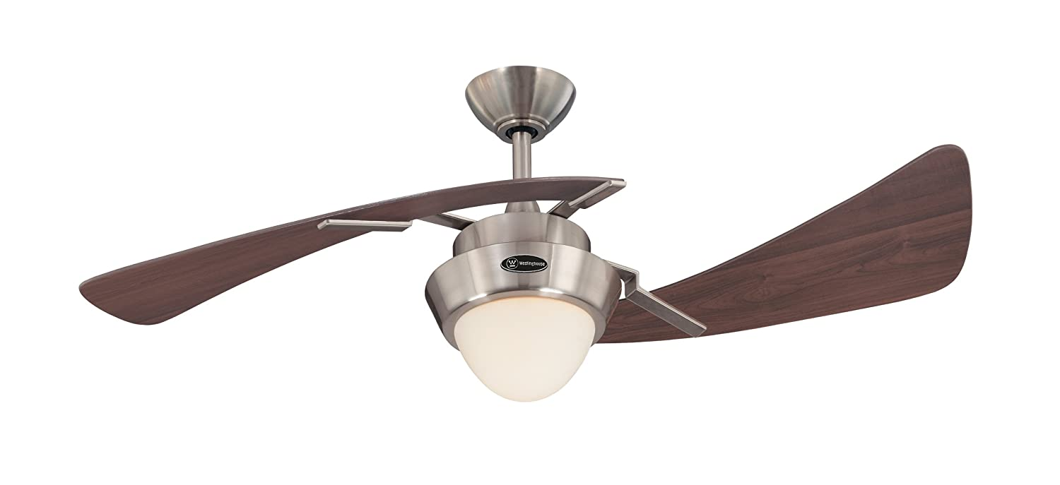 Nice Really Cool Ceiling Fans Part - 2: 7214100 Harmony 48-Inch Brushed Nickel Indoor Ceiling Fan, Light Kit With  Opal Frosted Glass - - Amazon.com