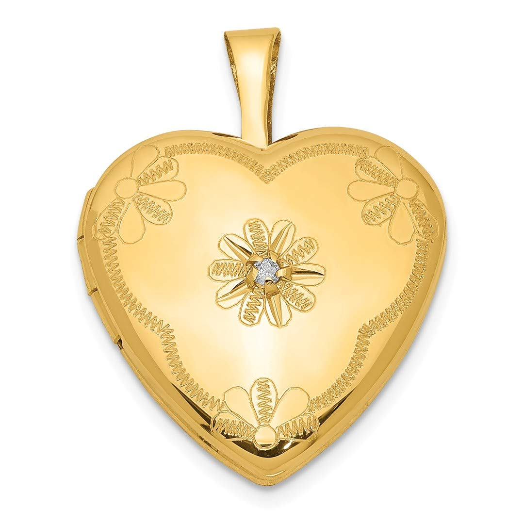 ICE CARATS 1/20 Gold Filled Diamond 2 Frame 15mm Heart Photo Pendant Charm Locket Chain Necklace That Holds Pictures Fashion Jewelry Ideal Gifts For Women Gift Set From Heart