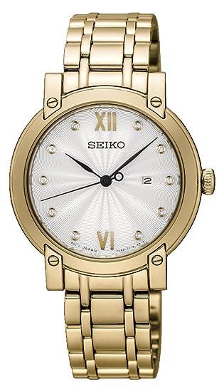 Seiko Reloj Analógico para Mujer de Cuarzo con Correa en Acero Inoxidable SXDG80P1
