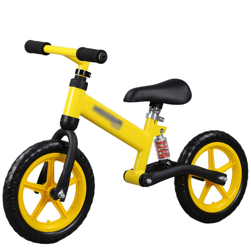DUWEN 子供のバランスの自転車高炭素鋼フレーム二輪車の足なしのスクーター (色 : イエロー いえろ゜)  イエロー いえろ゜ B07JLJL21L