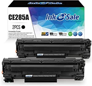 INK E-SALE Compatible Toner Cartridge Replacement for HP 85A CE285A 36A CB436A 35A CB435A Canon 125 for HP LaserJet P1102w M1212NF M1217nfw P1505 M1522nf P1109w P1006 Canon MF3010 LBP6000 2 Pack Black