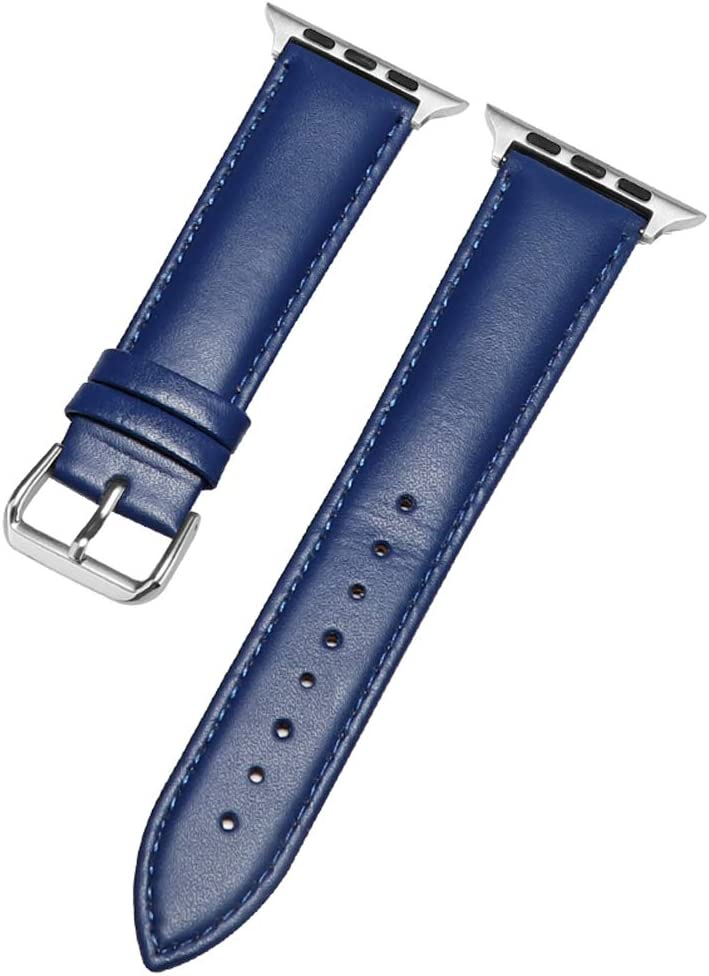 42mm/38mm Bands Compatible for Apple Watch Band 44mm 40mm Women Men, Genuine Leather Wristband Strap for iWatch Series 4 Series 3