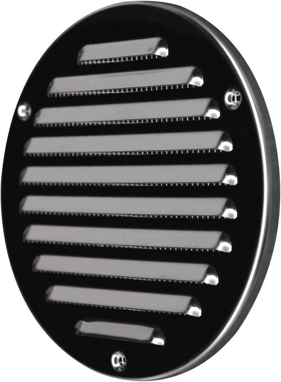 AWENTA L/üftungsgitter verzinkter Stahl rund /Ø 100//130 mm wei/ß