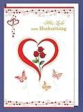 Riesen-Hochzeit Grußkarte Alles Liebe zum Hochzeitstag, Herz Handmade A4