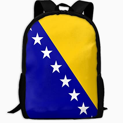 d5e16a2142 Image Unavailable. Image not available for. Color  Children s School  Backpack Bosnia And Herzegovina Flag Outdoor Travel Backpack Students  Backpacks Boys ...