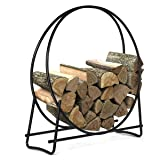 Goplus Firewood Log Hoop, Tubular Steel Wood