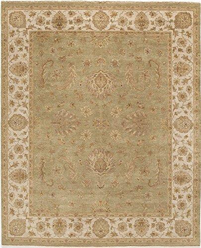 Agra Ivory Green - Amritsar Agra Rug, 3' x 10', Light Green/Ivory