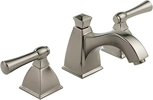 Brizo 65340LF-BN Vesi Bathroom Faucet Double Handle Widespread with Metal Lever Handles, Brushed Nickel