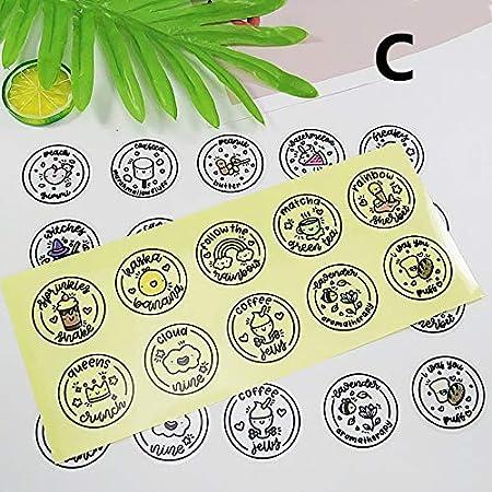 ruiruiNIE Impermeable Redondo Slime Sticker Containers Sticker Caja de Almacenamiento Sticker Slime Suministros Accesorios de Bricolaje Decoración de Botellas - C: Amazon.es: Hogar