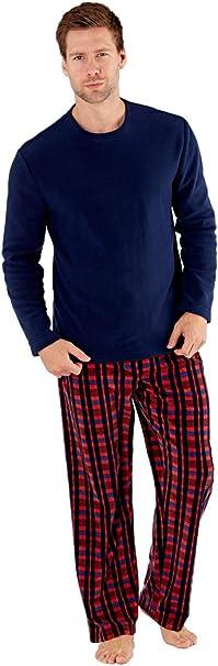 SaneShoppe - Conjunto de pijama térmico para hombre Rojo granate XXL