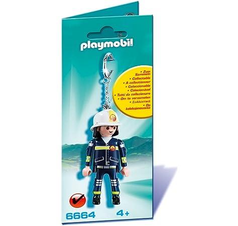 Playmobil - Llavero Bombero (6664): Amazon.es: Juguetes y juegos