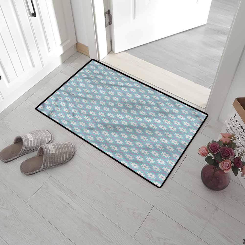Back Door SCOCICI1588 Welcome Doormats Modern High Traffic Areas 24 x 47 Inch Abstract Forms Vivid Tones Back Door Mat for Mud Room
