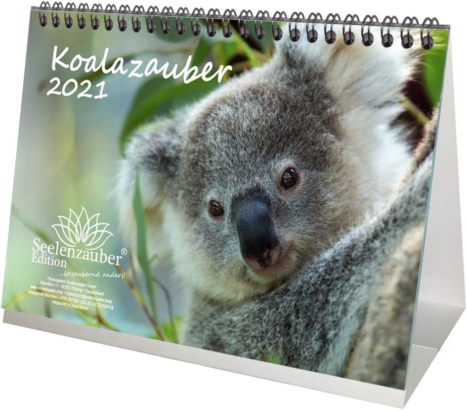 Geschenkset Inhalt: 1x Kalender insgesamt 2 Teile 1x Weihnachtskarte Koalazauber DIN A5 Tischkalender f/ür 2021 Koalab/ären Koala