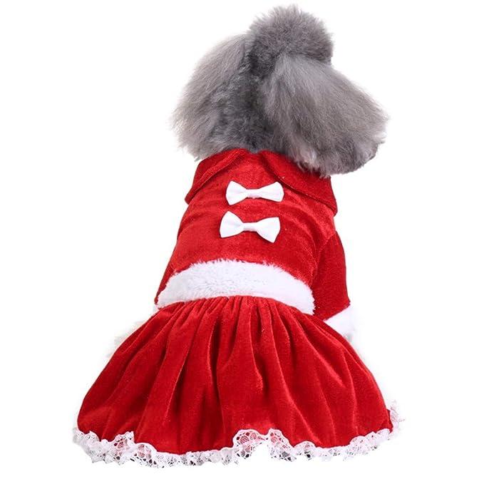 Amazon.com: Photno - Vestido de Navidad para perro, diseño ...