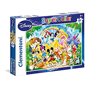 Clementoni Ancient Map Disney Classic Supercolor Puzzle Multicolore 60 Pezzi 26952