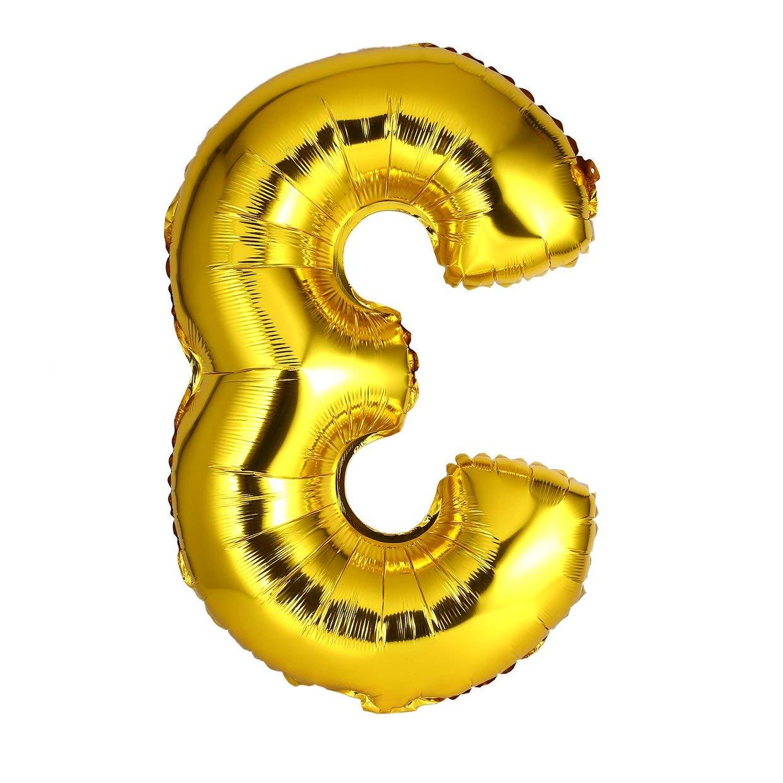 MXECO Globos de Mylar de Papel de Oro de 30 Pulgadas para la decoraci/ón de la Pared N/úmero Globos de Papel Digit Air Ballons Decoraci/ón de la Boda Evento Suministros para Fiestas
