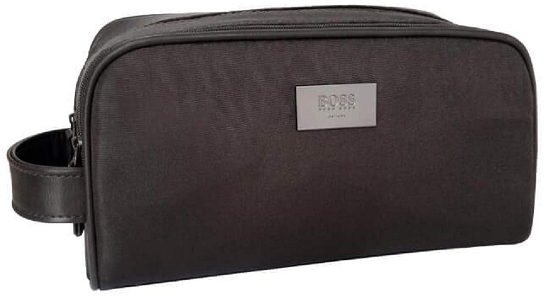 d692aa2e93 Hugo BOSS Designer Mens Brown Toiletry Bag WASH Travel Beauty Weekend CASE.  New: Amazon.co.uk: Luggage