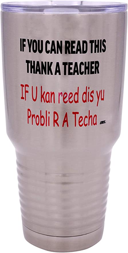 rainbow cup drip cup Stainless steel double walled teacher appreciation tumbler educator of tiny humans
