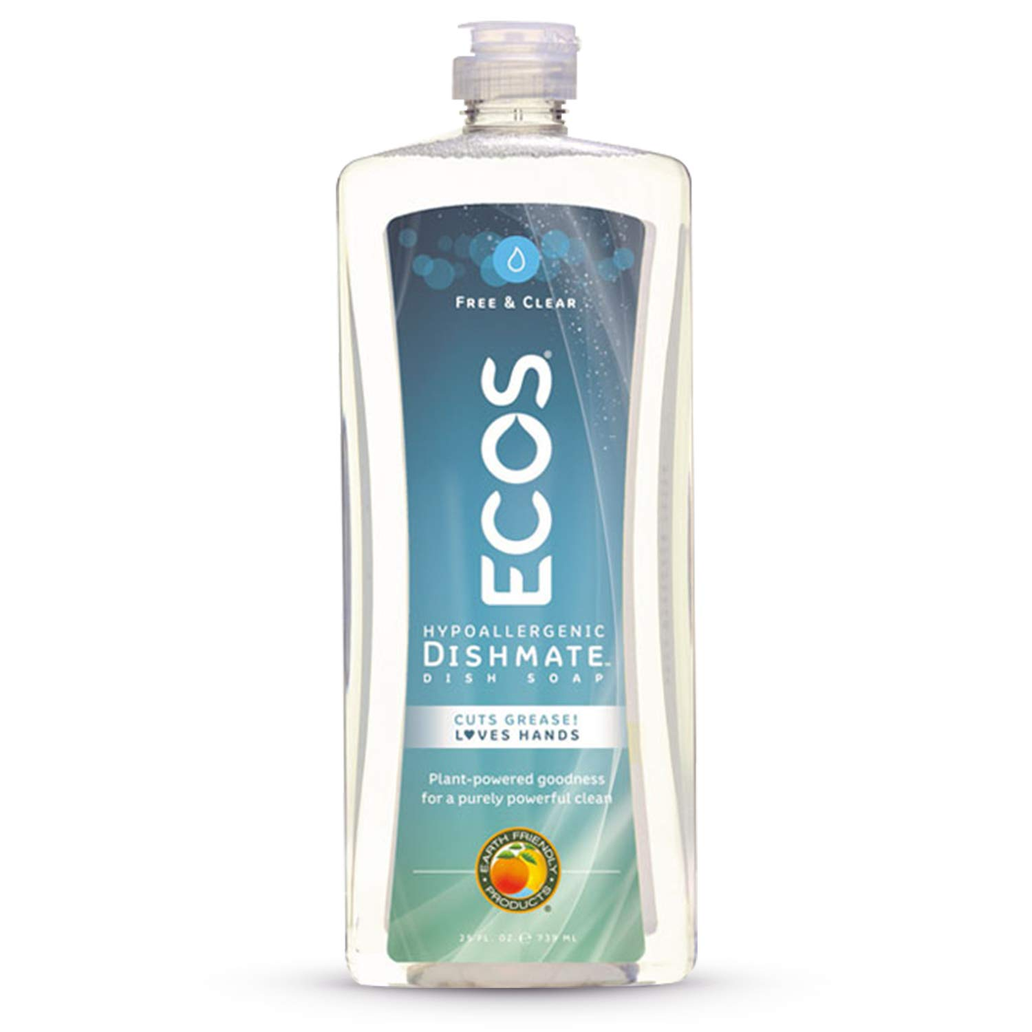ECOS Dishmate Dish Liquid, Free and Clear 25 oz. (Pack of 2)
