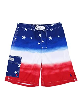 8aa686059f638 Image Unavailable. Image not available for. Color: Polo Ralph Lauren Men's  Kailua Americana Ombre Swim Trunks (S, Watercolor)