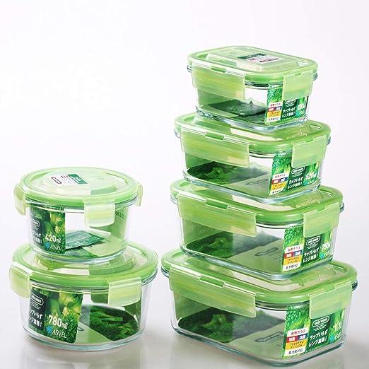 Recipiente De Almacenamiento De Alimentos De Vidrio - Sin BPA Caja ...