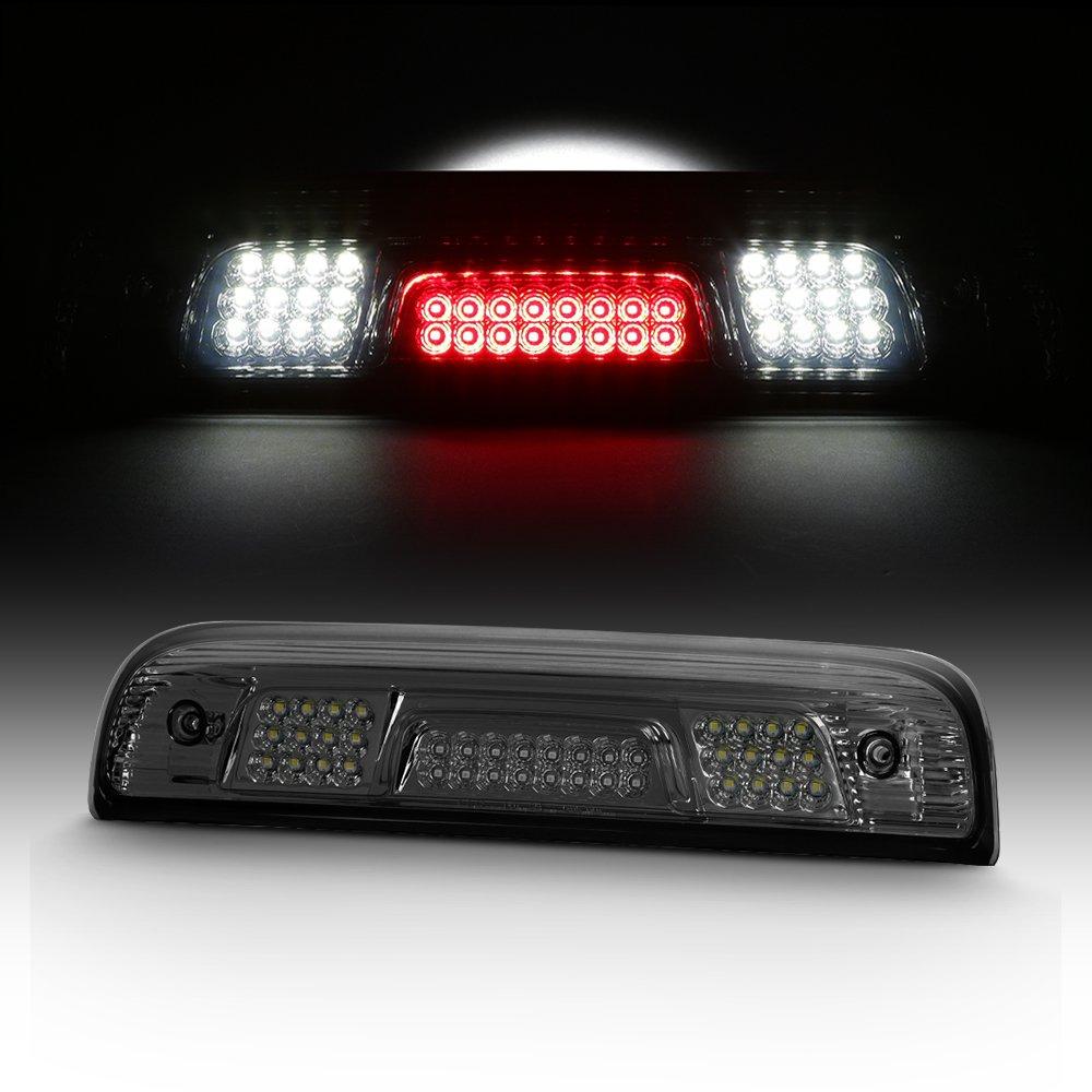 For 2014-2017 Sierra Silverado 1500 2500 3500 HD Heavy Duty Smoked LED 3rd Brake Cargo Light Lamp