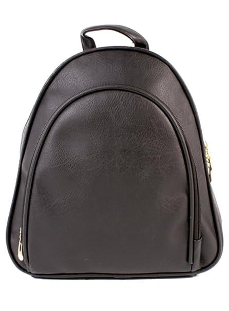 445a0df1a53 Ladies Small Faux Leather Backpack Womens Rucksack Handbag Black Shoulder  Bag Purse - HB402pu