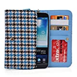 "Kroo Teal Hounstooth Samsung Galaxy J7 Prime, A7 (2017) A9 Pro (2016), A8+, Galaxy S7 Plus 6.0"", S6 edge+ Plus, Galaxy Note 8, Note 3 4 5 Phone Phablet Cases 