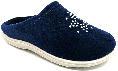 moda di vendita caldo prezzo migliore lusso INBLU Pantofole Ciabatte Invernali da Bimba MOD. B9-11 Blu