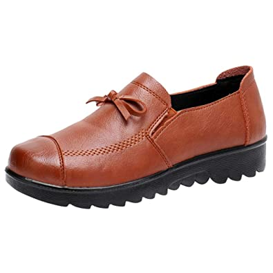 2019 Mocasines Plataforma Fondo Plano Negros para Mujer - Cestfini Los Cómodos Casual Zapatillas para Mujer, Zapatos del Barco, Cómodo y Antideslizante ...