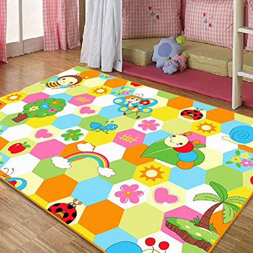 fadfay home textile cute honeybee kids living room carpet
