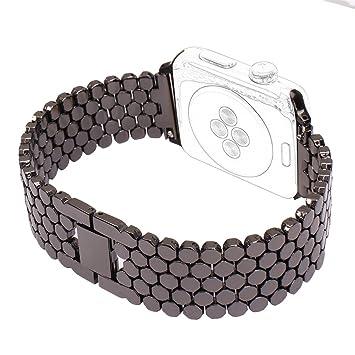 Correa para Reloj Apple Reemplazo HuaForCity Banda Desmontable Recambios Reloj Inteligente Elegante Correa Pulsera Acero Inoxidable para iwatch Serie 1/2/3: ...