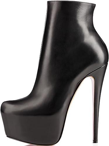 15cm Round Toe Stilettos Ankle Boots