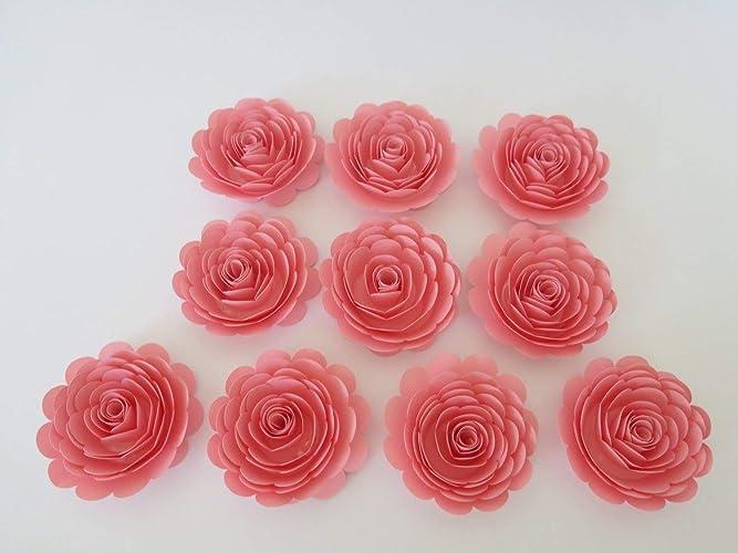 Amazoncom Pink Paper Flowers Girls Baby Shower Decor Quaint