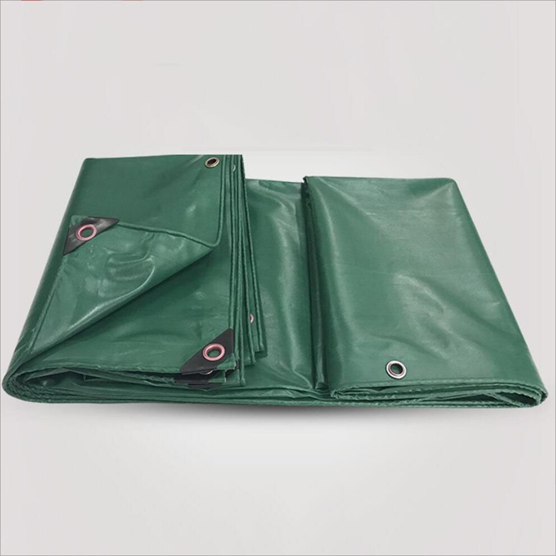 Im Freien Tarpaulin, im Freien Wasserdichter Lichtschutzzelttuch doppelseitiges feuchtigkeitsfestes Frachtstaubtuch-Hochtemperaturanti-Altern, grün (Farbe : A, größe : 2m × 3m)