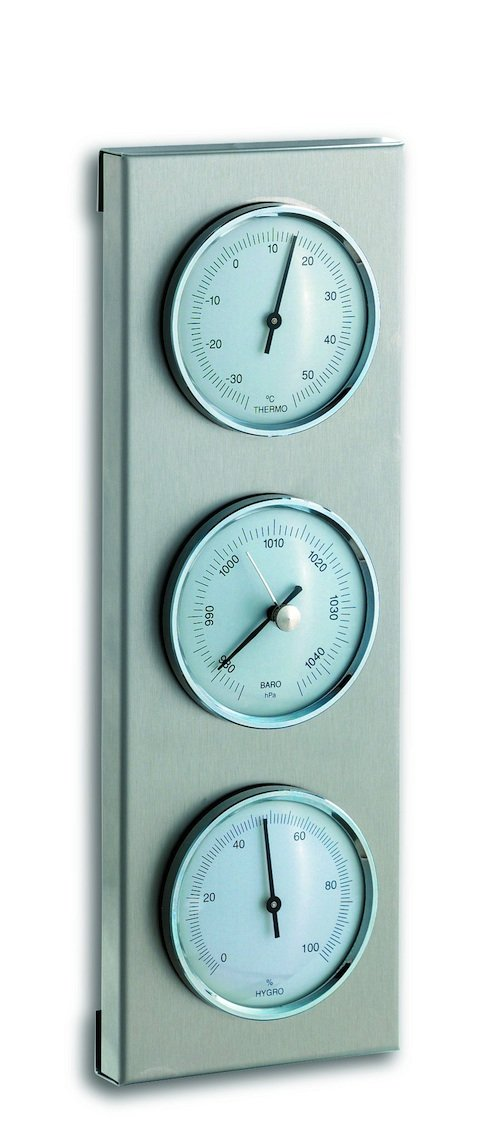 TFA 20.2034.02 White Scale 3 Dial Outdoor Analogue Barometer Weather Station TFA Dostmann GmbH & Co.KG