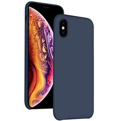 Amazon.com: Funda de silicona para iPhone Xs Max de 6,5 ...