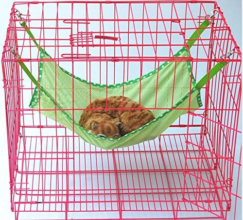 FERZA petsuppliesmisc Bed Mat for Little Animal Pet Bed Blanket Summer Breathable Cat Hammock Hanging (Green,L)