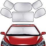 Parasoles de Coche 6 Piezas, AVEDISTANTE Parasoles para Auto Protección contra el Calor y los Rayos UV del Sol Auto…