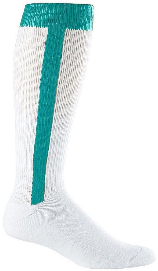 6011 Baseball Stirrup Socks -youth TEAL 42560 Augusta Drop Ship
